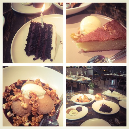 The desserts at Jean Gorges