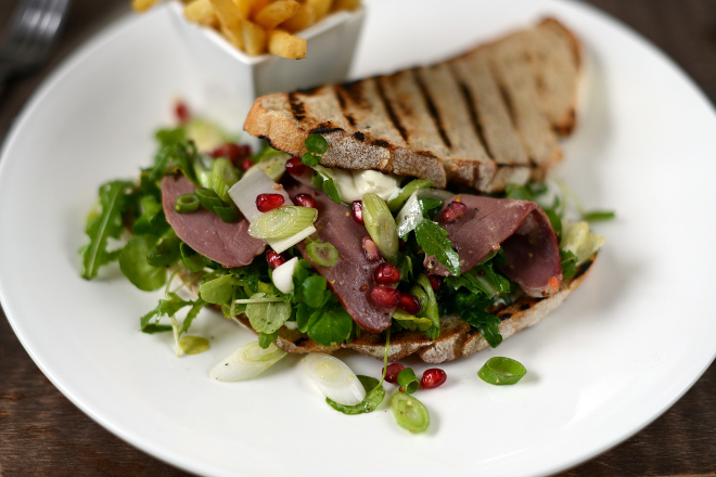 Duck Open Sandwich