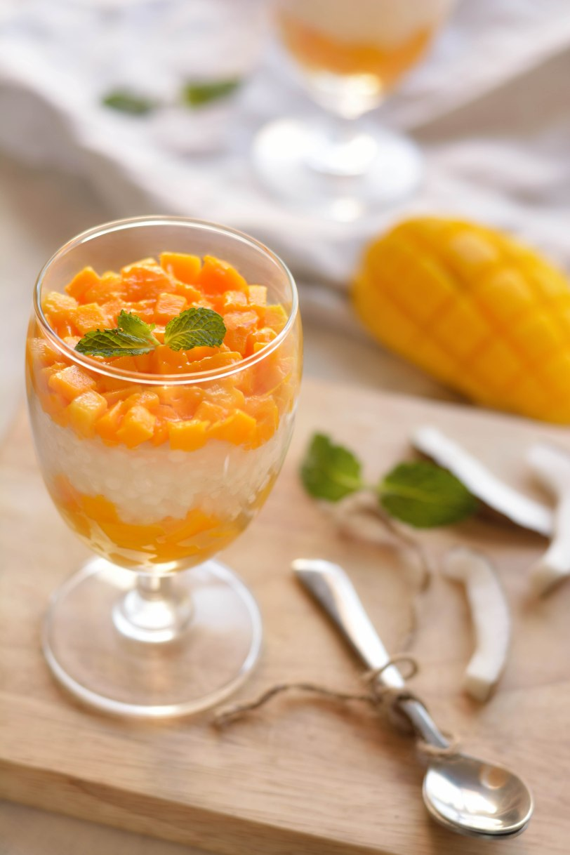 Mango, Coconut and Tapioca Pudding