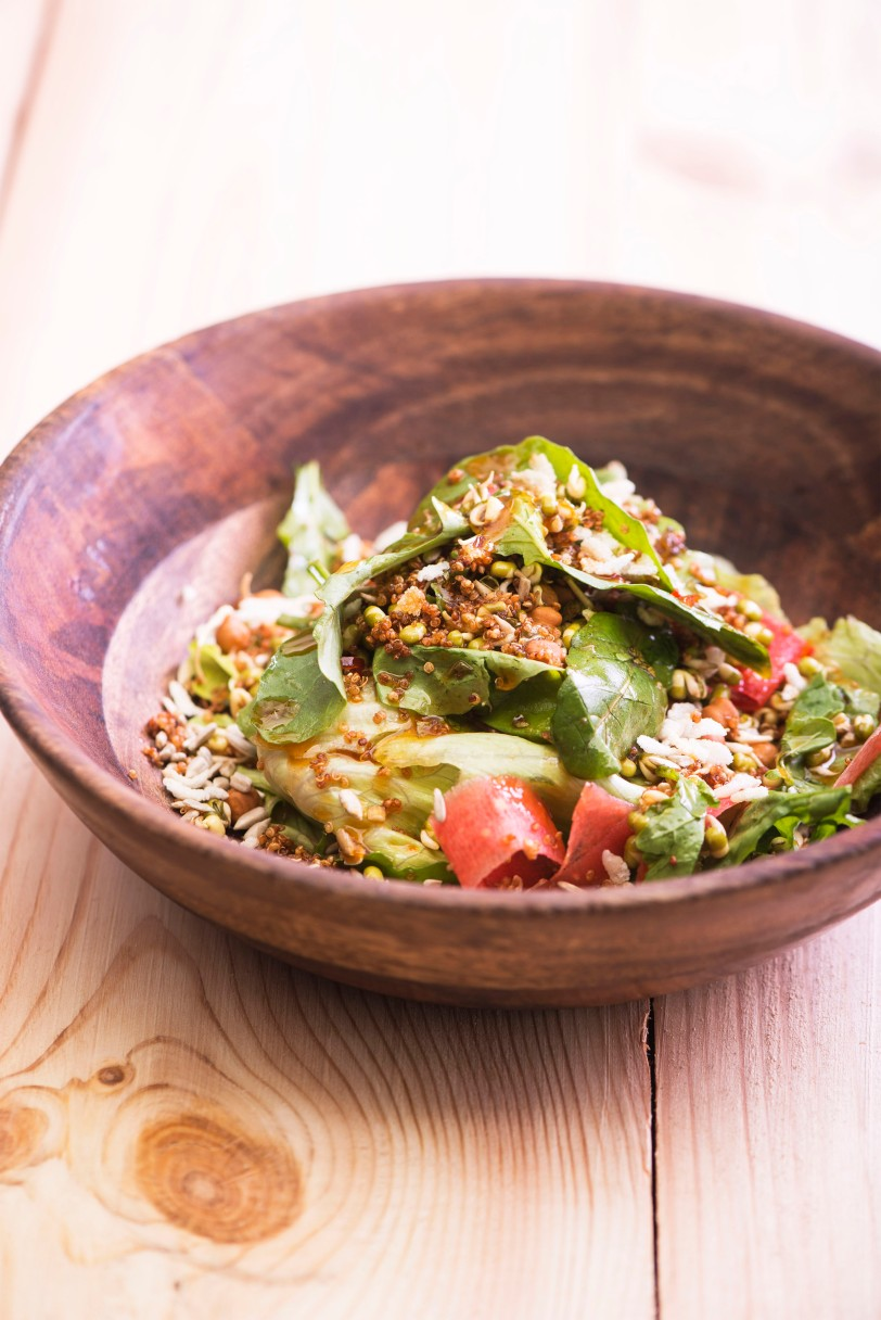 SHD - Bean Sprout Salad with Brown Rice Flakes & Crispy Quinoa