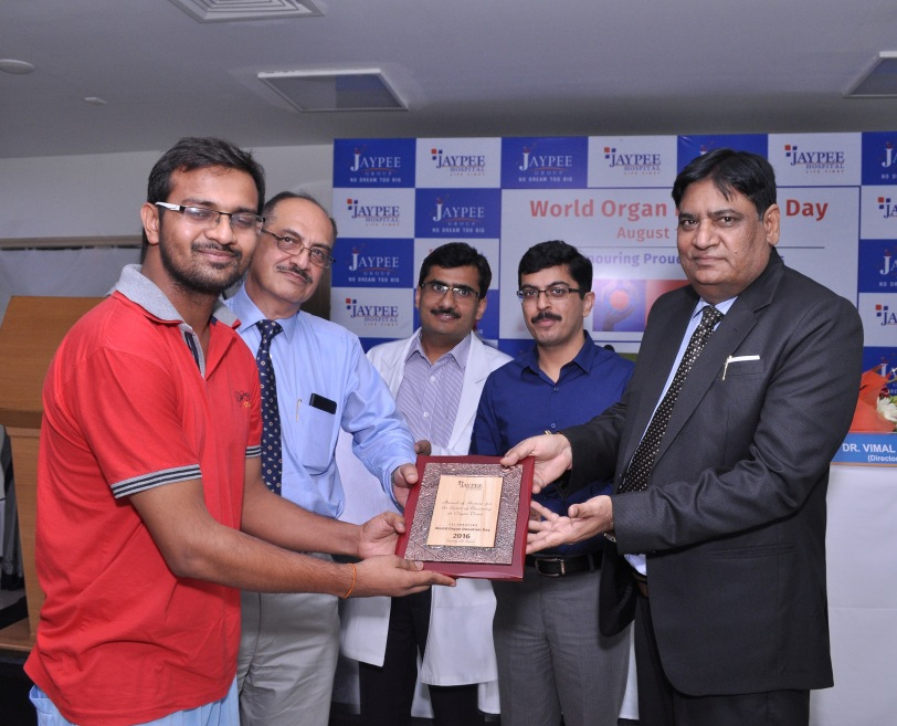 World Organ Donation Day celebrated at Jaypee Hospital