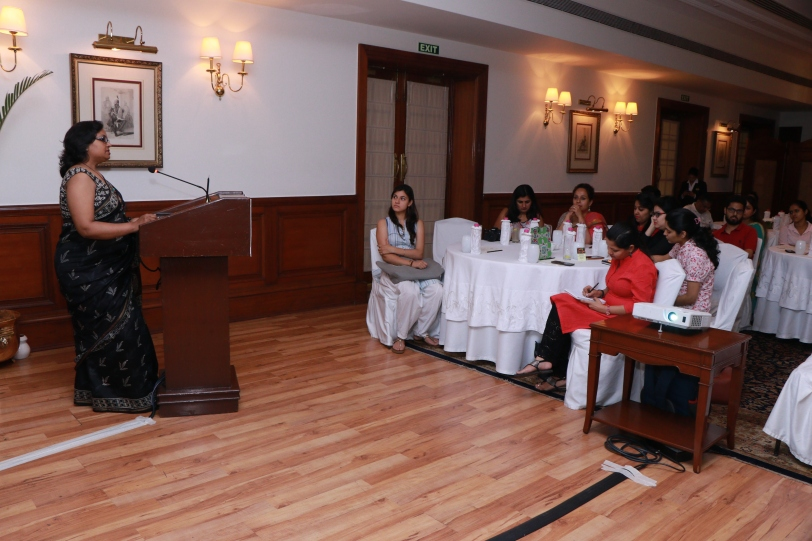 Audience engrossed in the gripping session by Sangeeta Khanna